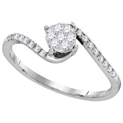 0.25CT Diamond Anniversary 10KT Ring White Gold