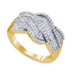 0.50CT Diamond Micro-Pave 10KT Ring Yellow Gold
