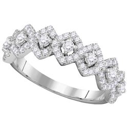 1.0CT Diamond Anniversary 14KT Ring White Gold
