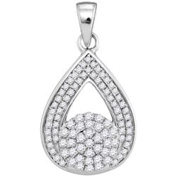 0.33CT Diamond Anniversary 10KT Pendant White Gold
