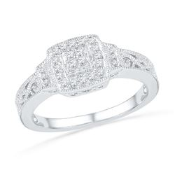 0.20CT Diamond Anniversary 10KT Ring White Gold