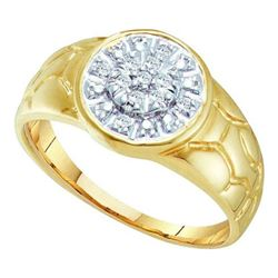 0.10CT Diamond Mens 10KT Ring Yellow Gold