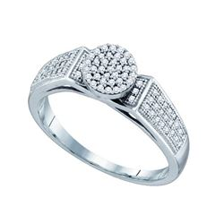 0.25CT Diamond Micro-Pave 10KT Ring White Gold