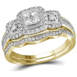 0.50CT Diamond Bridal 14KT Ring Yellow Gold