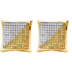 0.35CT Diamond Micro-Pave 14KT Earrings Yellow Gold