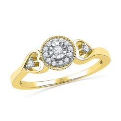 0.10CT Diamond Bridal 10KT Ring Yellow Gold