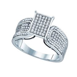 0.35CT Diamond Micro-Pave 10KT Ring White Gold
