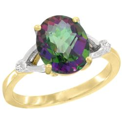 Natural 2.41 ctw Mystic-topaz & Diamond Engagement Ring 14K Yellow Gold - SC-CY408112-REF#33G8M