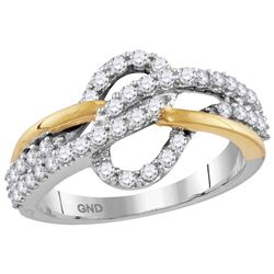 0.60CT Diamond Anniversary 10KT Ring 2Tone Gold
