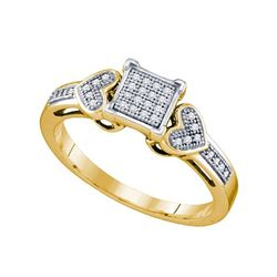 0.10CT Diamond Micro-Pave 10KT Ring Yellow Gold