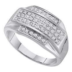 0.35CT Diamond Mens 10KT Ring White Gold