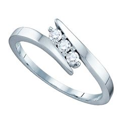0.15CT Diamond 3-Stone 14KT Ring White Gold