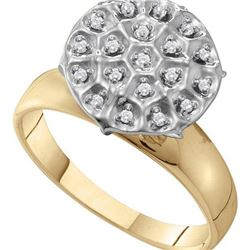 0.10CT Diamond Fanuk 10KT Ring Yellow Gold