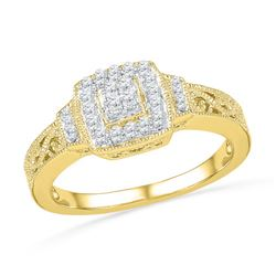 0.20CT Diamond Anniversary 10KT Ring Yellow Gold