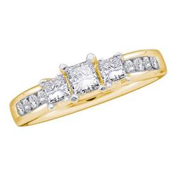 0.85CT Diamond Bridal 14KT Ring Yellow Gold