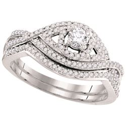 0.50CT Diamond Bridal 10KT Ring White Gold
