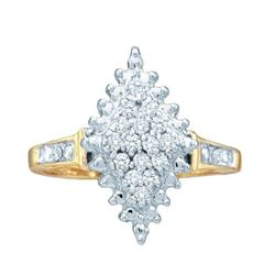 0.25CT Diamond Cluster 10KT Ring Yellow Gold