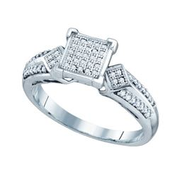 0.20CT Diamond Micro-Pave 10KT Ring White Gold