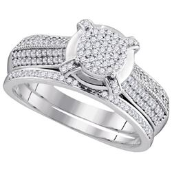 0.50CT Diamond Micro-Pave 10KT Ring White Gold