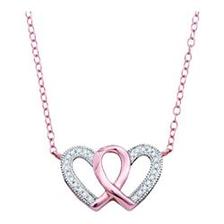 0.10CT Diamond Anniversary 10KT Necklace Rose Gold - GD91556