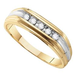0.12CT Diamond Mens 10KT Ring Yellow Gold - GD55014