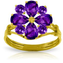 2.43 ctw Amethyst Ring Jewelry 14KT Yellow Gold - GG#2200