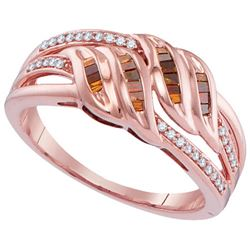 0.25CTW White and Champagne Diamond Anniversary 10KT Ring Rose Gold - GD99272
