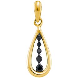 0.10CTW White and Black Diamond Anniversary 10KT Pendant Yellow Gold - GD92510