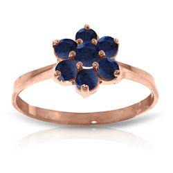0.66 ctw Sapphire Ring Jewelry 14KT Rose Gold - GG#2333