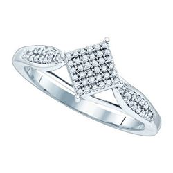 0.20CT Diamond Micro-Pave 10KT Ring White Gold - GD81472