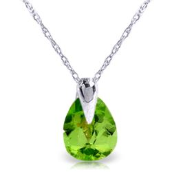 0.68 ctw Peridot Necklace Jewelry 14KT White Gold