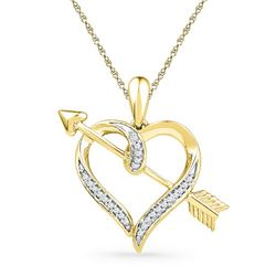 0.12CT Diamond Anniversary 10KT Pendant Yellow Gold