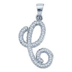 0.20CT Diamond Initial-C 10KT Pendant White Gold