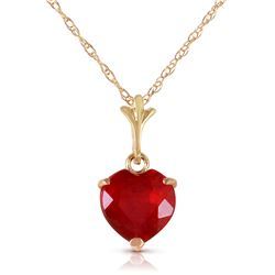 1.45 ctw Ruby Necklace Jewelry 14KT Yellow Gold