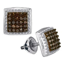 0.50CT Diamond Micro-Pave 10KT Earrings White Gold