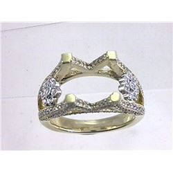 Genuine 14K Two Tone Gold 1.05CTW Diamond Semi Mount Ring - REF-117H8W