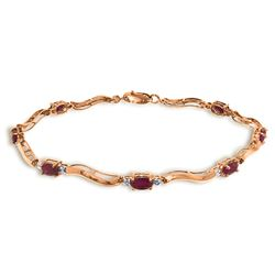 2.01 ctw Ruby & Diamond Bracelet Jewelry 14KT Rose Gold