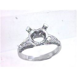 Genuine 18K White Gold 0.63CTW Diamond Semi Mount Ring - REF-106A9X