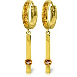 1.35 ctw Citrine Earrings Jewelry 14KT Yellow Gold