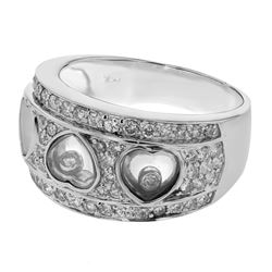 Genuine 18K White Gold 0.75CTW Diamond Fashion Ring - REF-120N6A