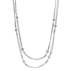 Genuine 0.87 TCW 18K White Gold Ladies Necklace - REF-163Z6T