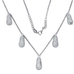 Genuine 2.17 TCW 18K White Gold Ladies Necklace - REF-276A8X