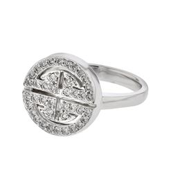 Genuine 14K White Gold 0.44CTW Diamond Fashion Ring - REF-25A7X