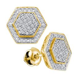 0.33CT Diamond Micro-Pave 10KT Earrings Yellow Gold