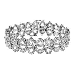 Genuine 3.26 TCW 14K White Gold Ladies Bracelet - REF-350Y3Z