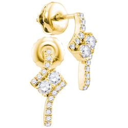 0.25CT Diamond Anniversary 14KT Earrings Yellow Gold