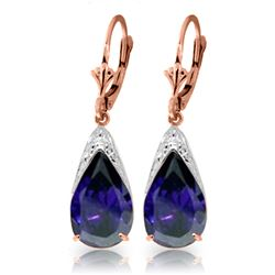 9.3 ctw Sapphire Earrings Jewelry 14KT Rose Gold