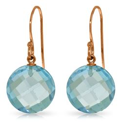 12 ctw Blue Topaz Earrings Jewelry 14KT Rose Gold