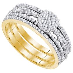 0.35CT Diamond Bridal 10KT Ring Yellow Gold