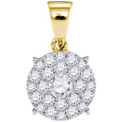1CT Diamond Micro-Pave 14KT Pendant Yellow Gold